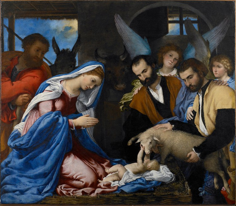 Lorenzo Lotto - Aanbidding van de Herders