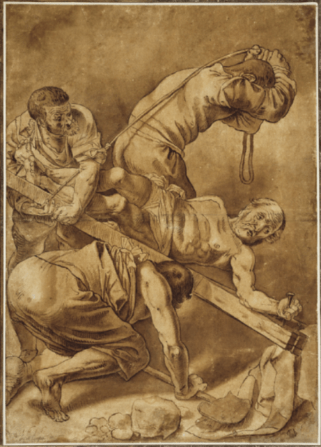 Gerard van Honthorst - de Kruisiging van Petrus