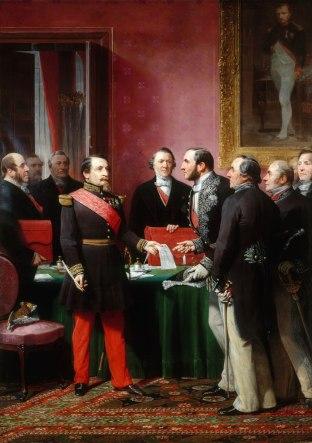 Adolphe Yvon - Haussmann toont Napoleon III de plannen voor de renovatie van Parijs
