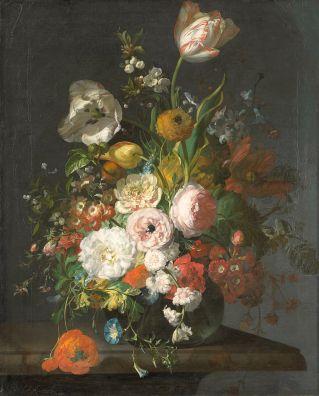 Rachel Ruysch - Bloemstilleven in Vaas (Rijksmuseum)