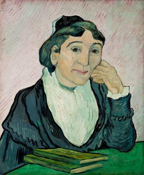 Vincent van Gogh - L'Arlésienne (Madame Ginoux) Februari 1890. Galleria Nazionale d'Arte Moderna e Contemporanea, Rome.
