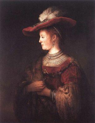 Rembrandt van Rijn - Saskia met Rode Hoed