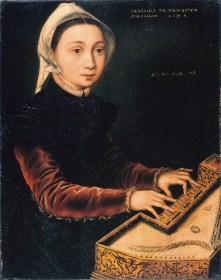 Catharina van Hemessen - Meisje aan het Virginaal