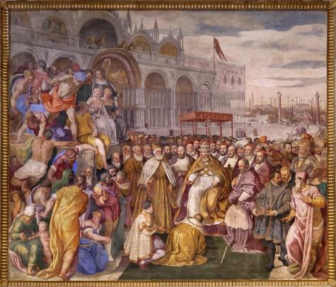 Francesco Salviati en Giuseppe Porta - Onderwerping van Barbarossa aan Alexander III