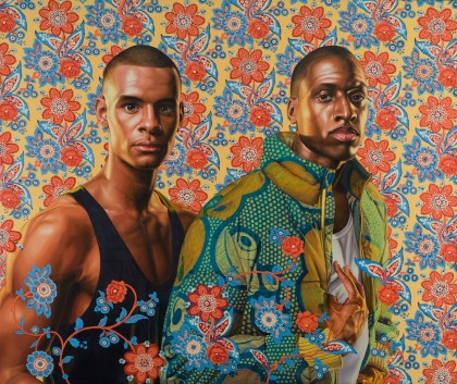 Kehinde Wiley, Prince Charles Louis, Elector Palatine and his brother Prince Rupert of the Palatine, 2012. THE EKARD COLLECTION. © Kehinde Wiley