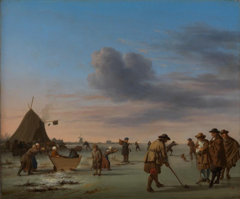 Adriaen van de Velde - Golfers op het Haarlemmermeer
