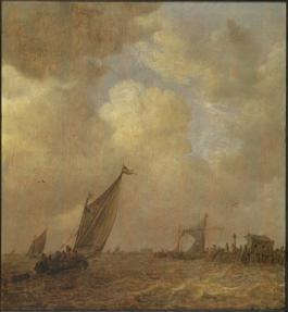 Jan van Goyen - Storm op het Haarlemmermeer