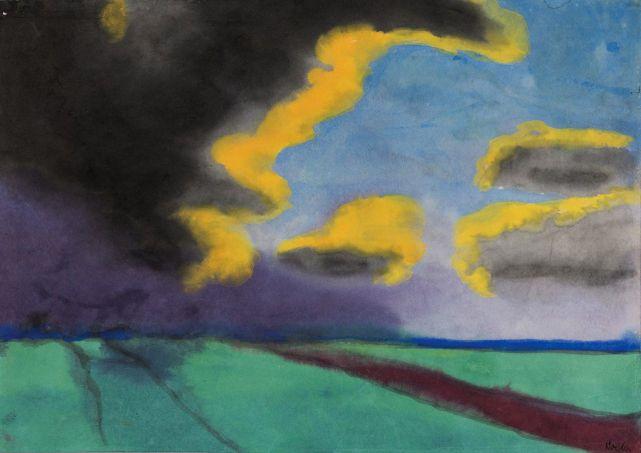 Emil Nolde - Wijds Landschap met Wolken