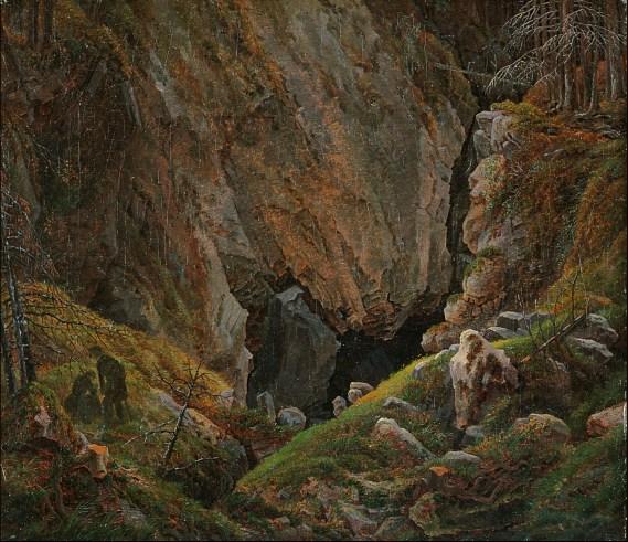 Caspar David Friedrich - Felsenlandschlucht im Harz