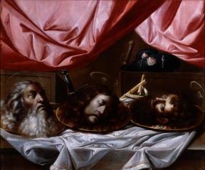School van Sevilla - Hoofden van Paulus, Johannes de Doper en Jakobus