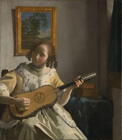 Johannes Vermeer - Gitaarspeelster