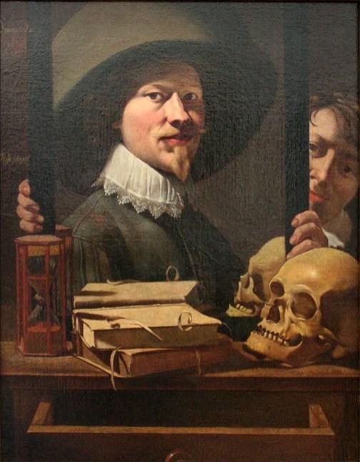 Antoine Steenwinkel - Vanitasportret van de schilder en zijn vrouw