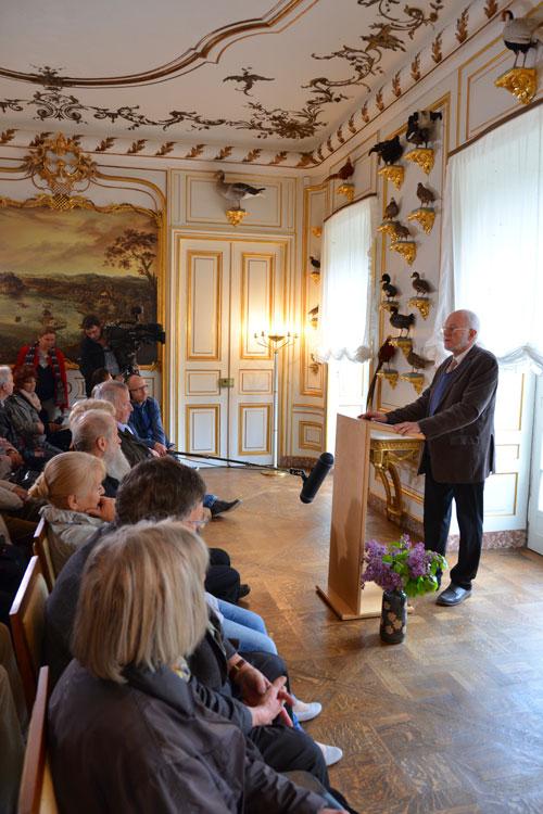 Christoph Wetzel bei seiner Einführung (Foto: Thomas Schlechte, Dresden)