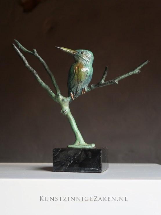 ijsvogel brons beeldje