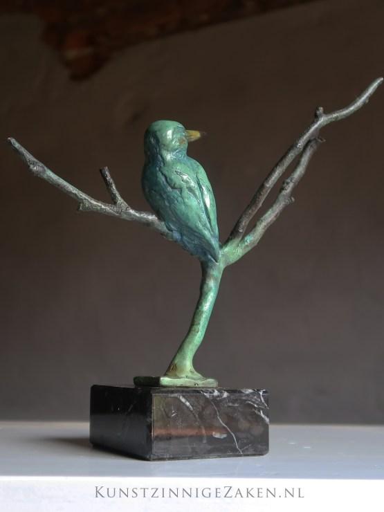 bronzen beeld ijsvogel kopen