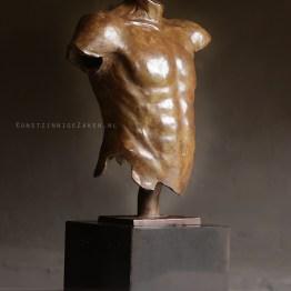 bronzen beeld mannen torso