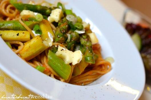 Tomaten Spargel Spaghetti II