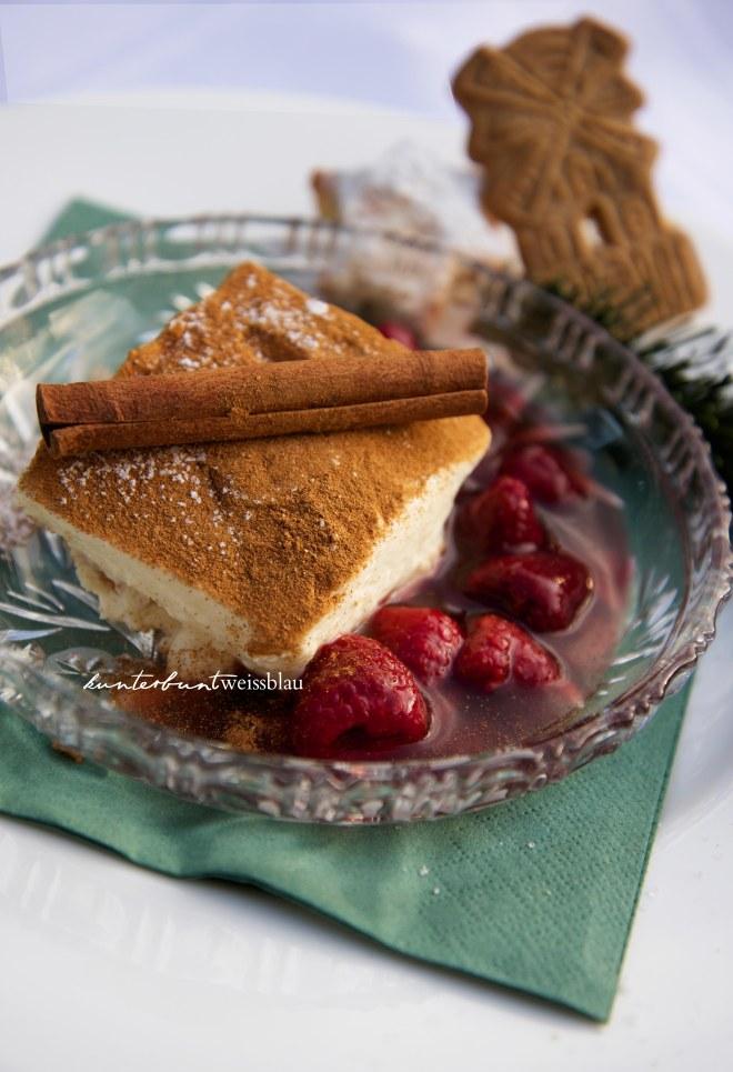 Spekulatius Himbeer Dessert