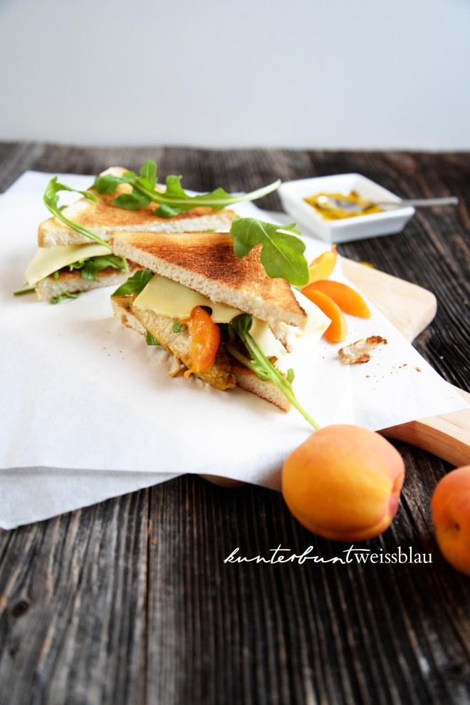 Chicken Peach Sandwich
