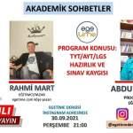 Rahmi MART ve Ali KARAMAN Bu Haftaki AKADEMİK SOHBETLER Programımızın Konuğu