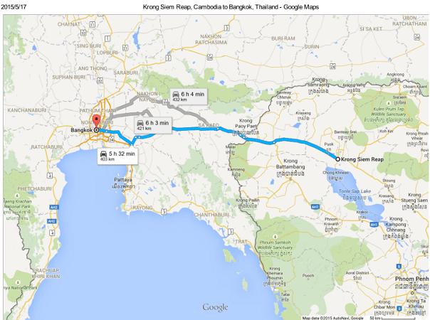 【タイ‐カンボジア陸路国境越え】カオサン発のバンを使わずにアンコールワットへ行く方法