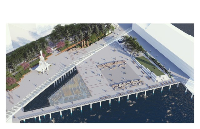 caption: The re-imagined Pier 58 on Seattle's waterfront.