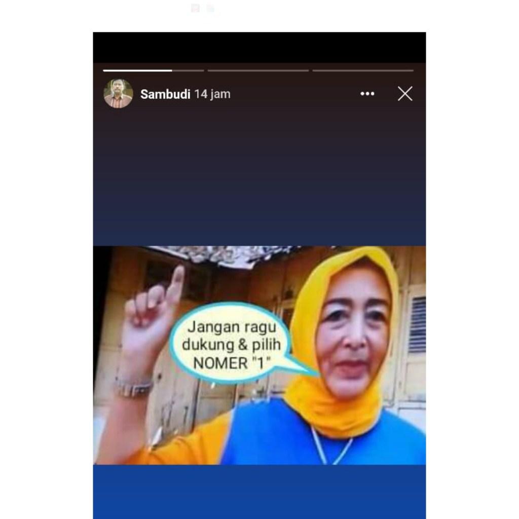 Foto Martanti Soenar Dewi dengan meme hoaks
