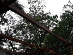Hujan Intensitas Tinggi Disertai Angin Kencang,  Dua Rumah Warga Gedangsari Tertimpa Pohon