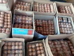 Disinyalir Hendak Diedarkan Dimasa Tenang, Telur Dan Wajan Berstiker Paslon Nomer 3 Diciduk Petugas Panwas