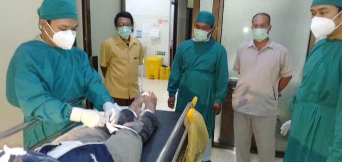 Jenazah korban saat di rumah sakit