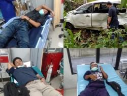 Gara – gara Kecelakaan di Depan Goa Maria, Lima Pemuda Dilarikan Ke Rumah Sakit