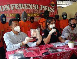 Tangkap Sembilan Tersangka, Polisi Bongkar Jaringan Peredaran Narkoba di Gunungkidul