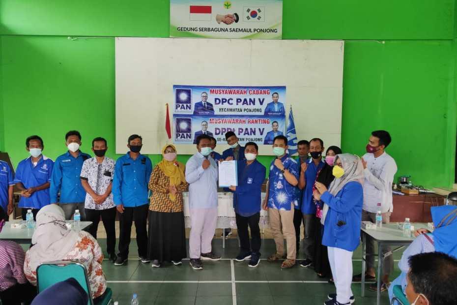 Muscab DPC PAN PONJONG & MUSRAN DPRt PAN Se Kecamatan Ponjong Berlangsung Lancar