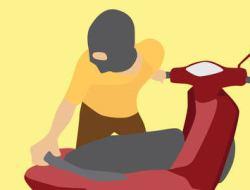 Diparkir Dekat Ladang Dalam Keadaan Terkunci, Sepeda Motor Vario Digasak Pencuri
