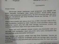 Dimintai Foto Untuk Dibayangkan Oleh Oknum Guru SMA N 2 Wonosari, Ketua DPRD Gunungkidul Naik Pitam