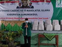 Geser Arif Gunadi, Sya'ban Nuroni Pimpin PCNU Gunungkidul