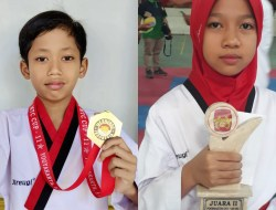 Bukan Kaleng – kaleng, Dua Bocah Sekolah Ini Sabet Kejuaraan Taekwondo Internasional