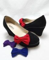 (AM-14) Sepatu Wedges Korea Black