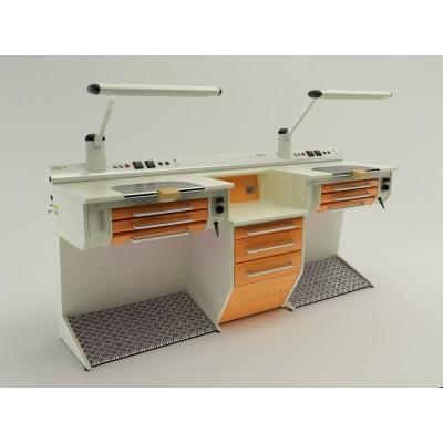 Фотография OPERATIVE 07 - стол зубного техника на два рабочих места| CATO (Италия)