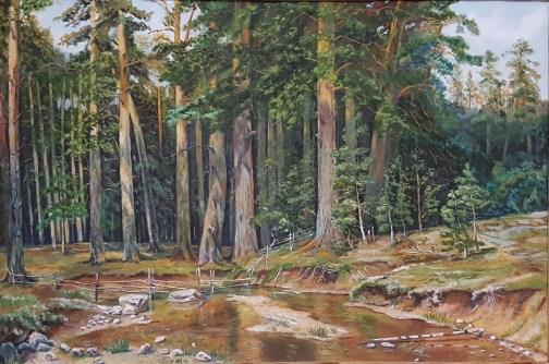 Строевой лес. вольная копия И.Шишкина