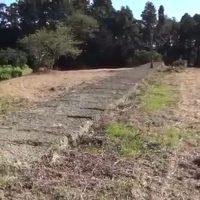 特攻機「桜花」のカタパルト式滑走路跡