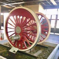 大宮の鉄博でみる「01型蒸気機関車の車輪」