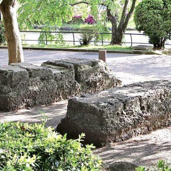 千葉公園に残る「ウィンチ台跡」