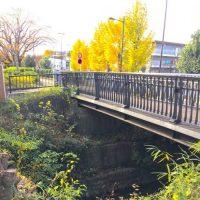 武蔵野市に残る中島飛行機引込線橋台跡「ぎんなん橋」