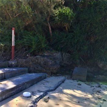 宮古島市の「パイナガマビーチの機関銃壕」