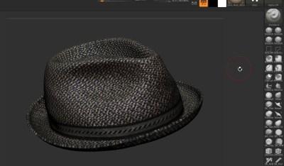 Zbrush帽子モデリング