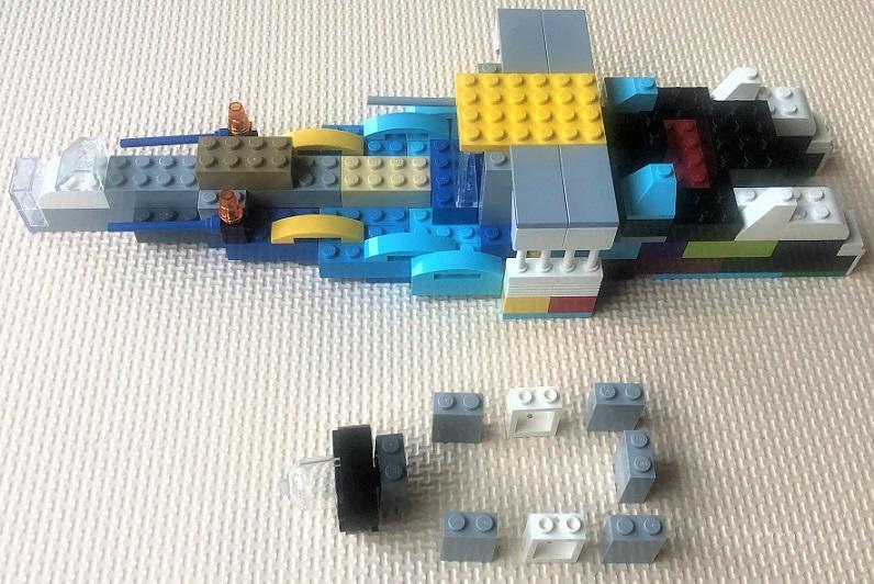 レゴ 舟の自作レシピ