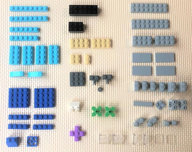 レゴ ヘリコプターを作るのに必要なブロック