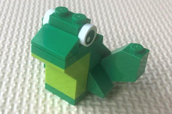 レゴクラシック カエルの組み立て設計図