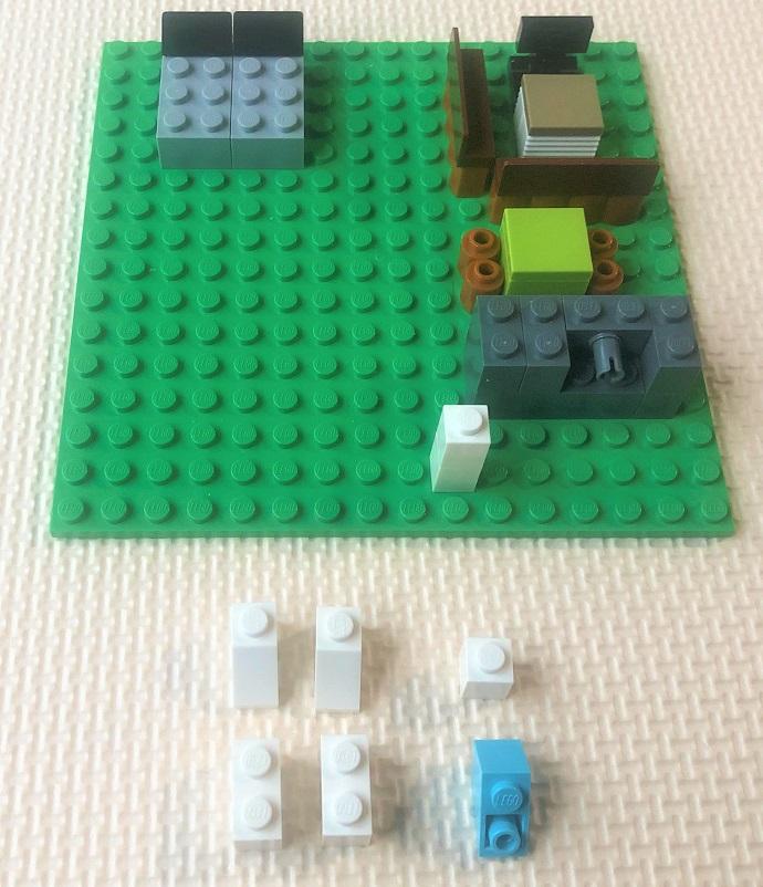 レゴ トイレと洗濯機の作り方